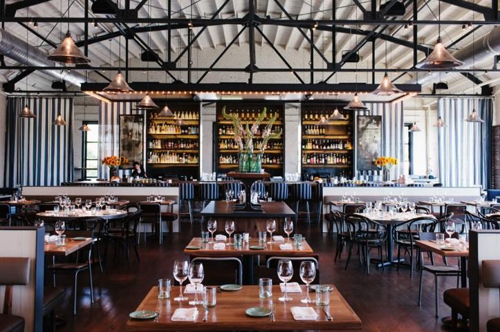 Interiorismo industrial en restaurante