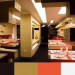 Paleta de colores para decorar un restaurante NEGRO