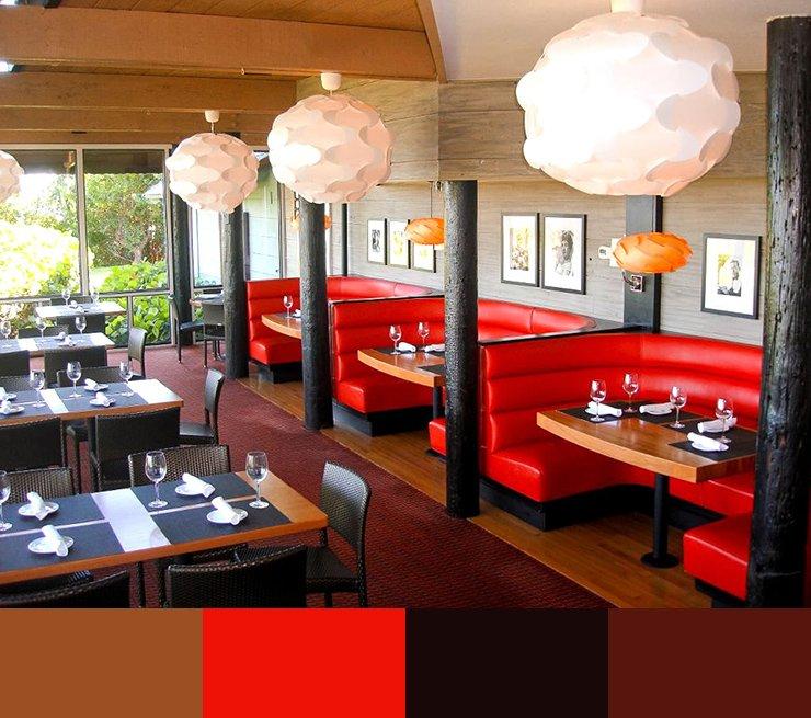 Paleta de colores para decorar un restaurante ROJO 1