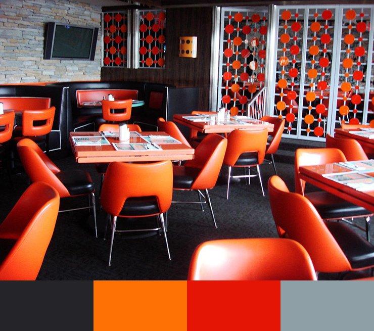 Paleta de colores para decorar un restaurante ROJO 2