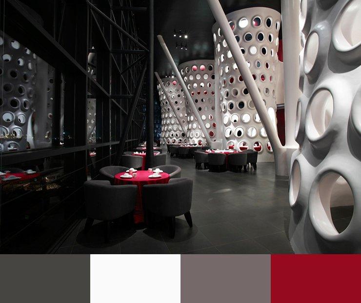 Paleta de colores para decorar un restaurante ROJO 6