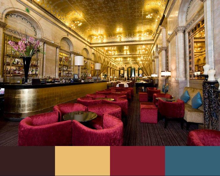 Paleta de colores para decorar un restaurante ROJO 8