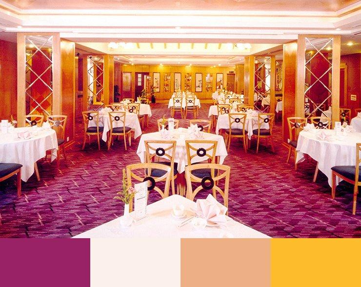 Paleta de colores para decorar un restaurante ROSA