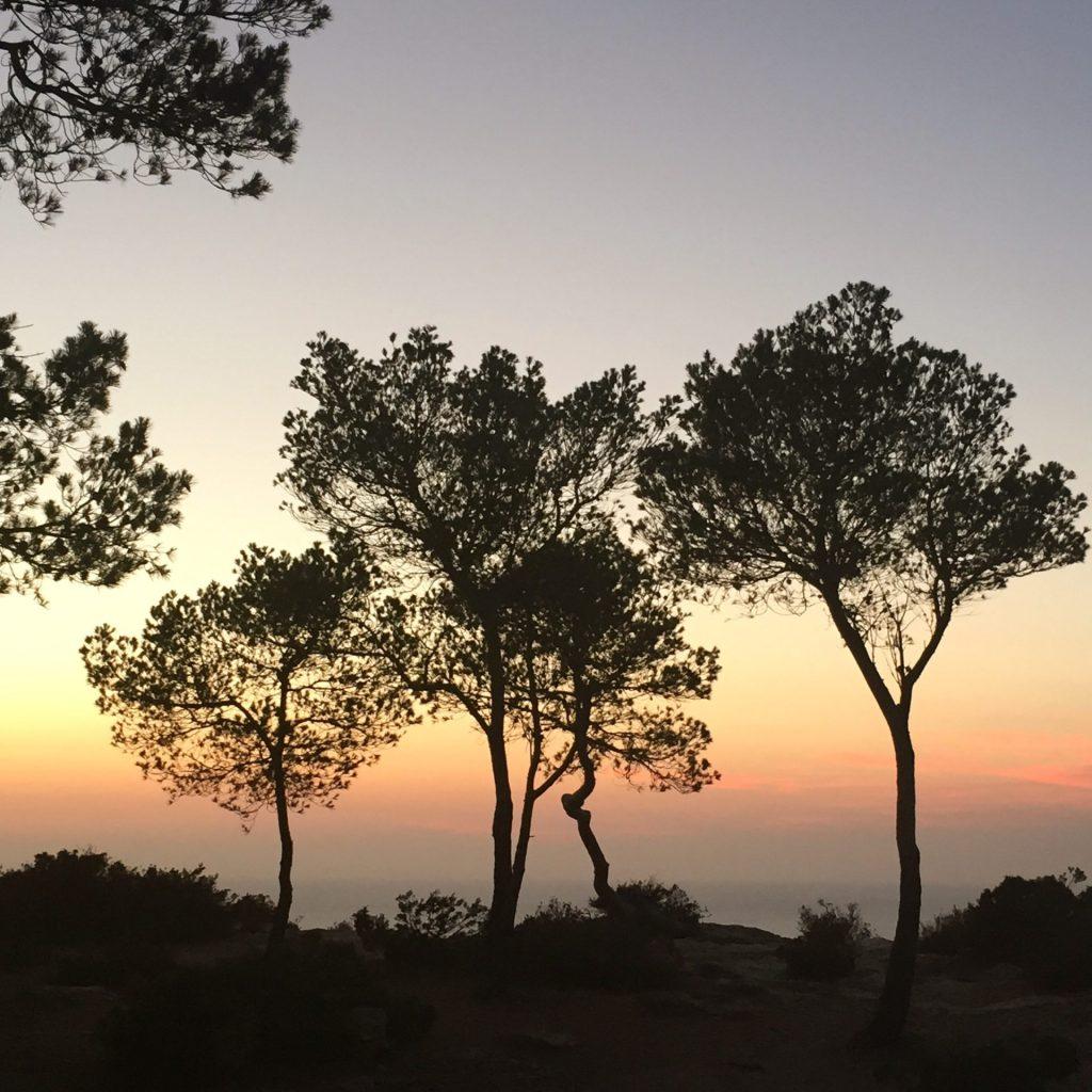 Puesta de sol desde Santa Agnés, Ibiza
