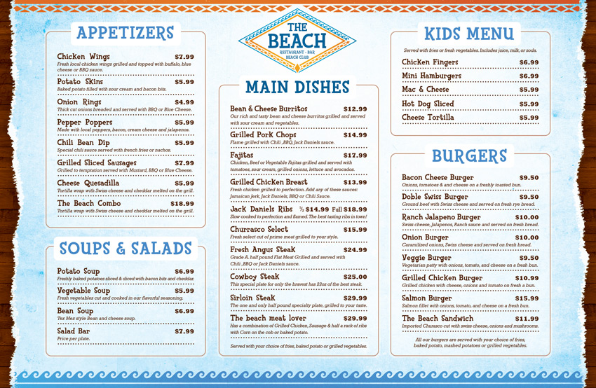 The-beach-restaurant-branding-menu-diseño-grafico-bavaro-punta-cana