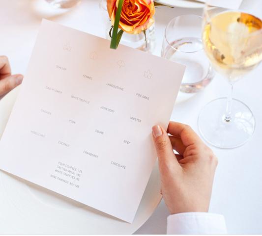 Cartas de Menú para Restaurantes. Eleven Madison Park