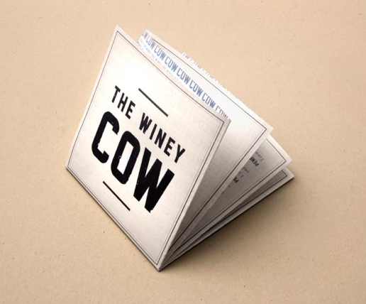 Cartas de Menú para Restaurantes. The Winey Cow Restaurant