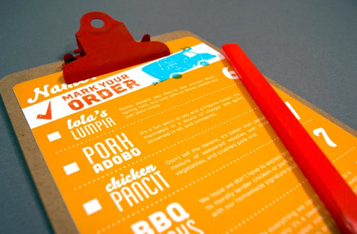 Cartas de Menús para Restaurantes. Carabao Filipino Food TruckCartas de Menús para Restaurantes. Carabao Filipino Food Truck