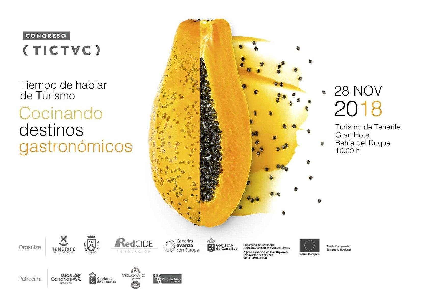 Congreso TIC TAC Cocinando destinos gastronómicos
